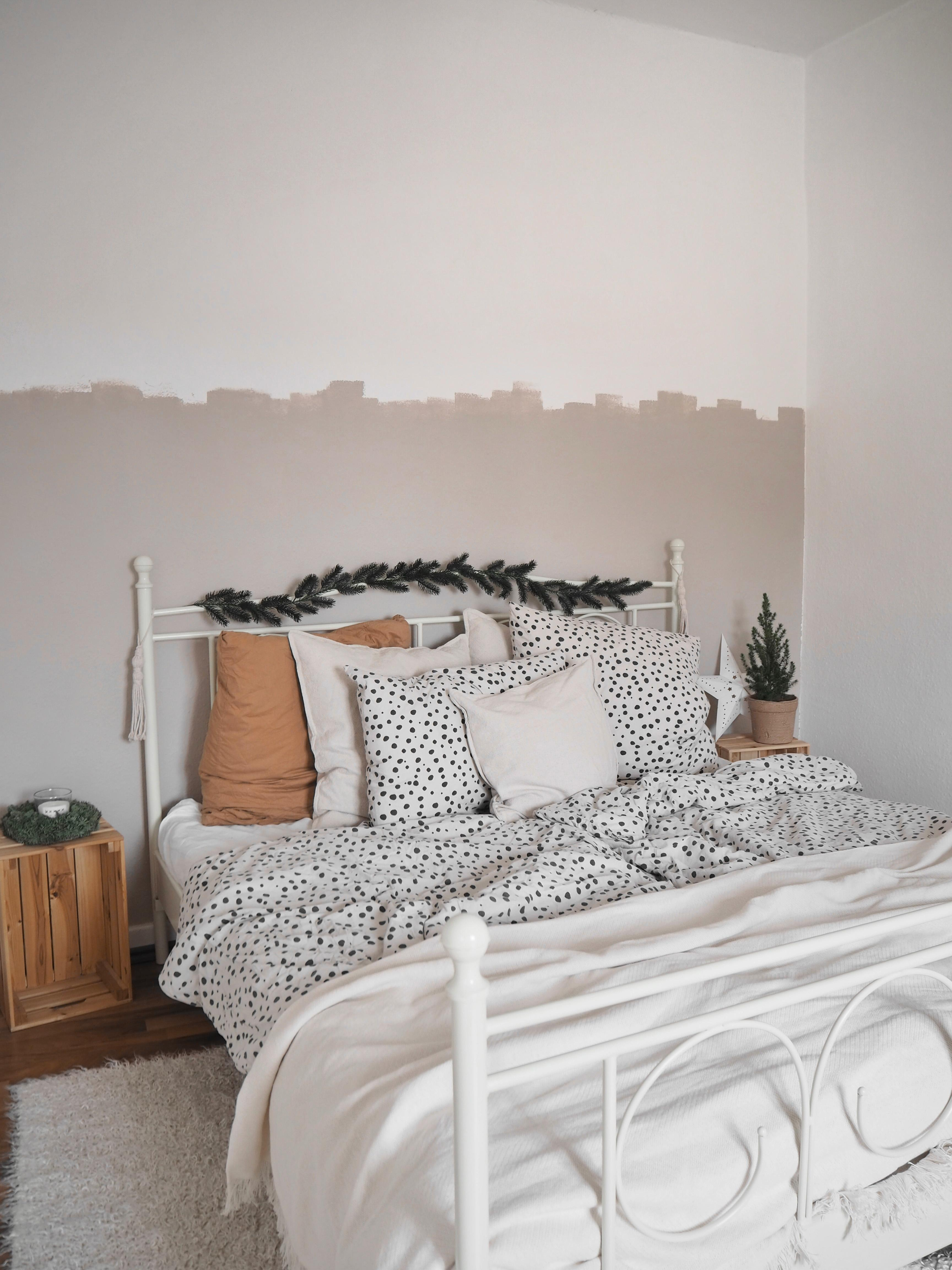 Weihnachtliche Traume Girlande Winterdeko Bett