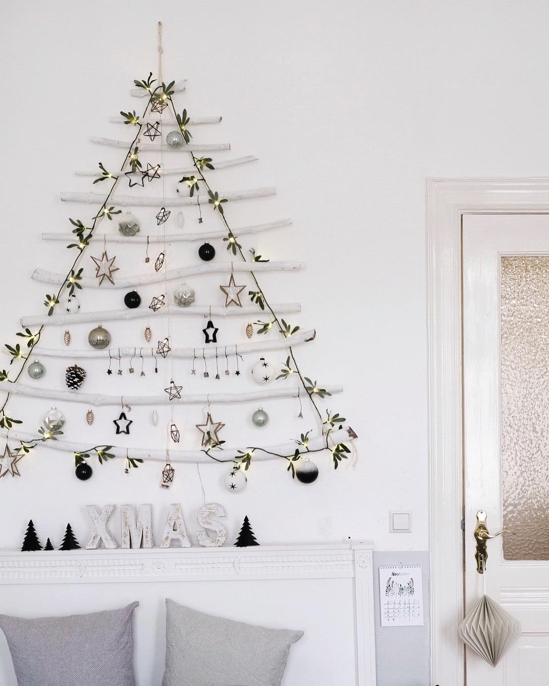 Weihnachtsbaum mal anders xmasdeko weihnachtsbau - Weihnachtsbaum vorhang ...
