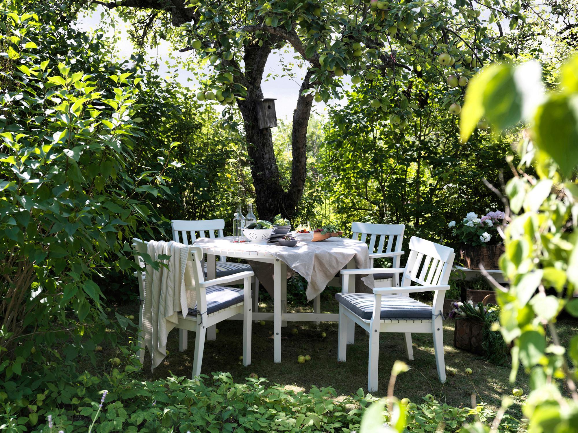 Weiße Gartenmöbel Aus Holz Ikea Weißesgartenmöbel