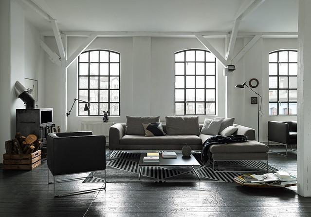 Wenn die Wände #weiß sind, schaffen dunkle Möbel ein...