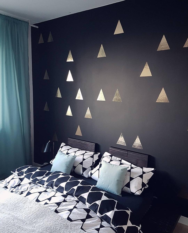 Wand schwarz streichen bilder ideen couch - Wand schwarz streichen ...