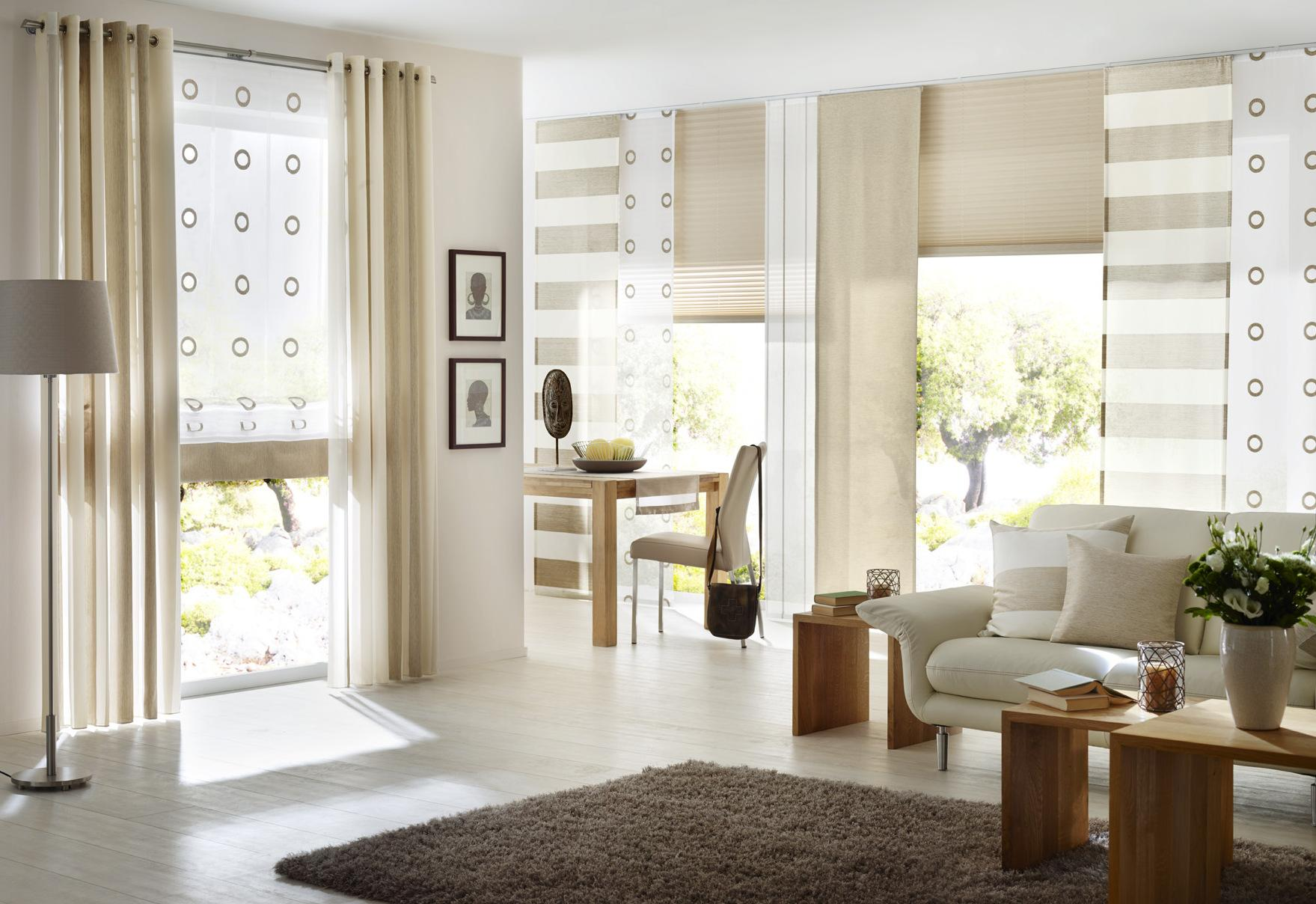 Beigefarbener Vorhang • Bilder & Ideen • COUCHstyle