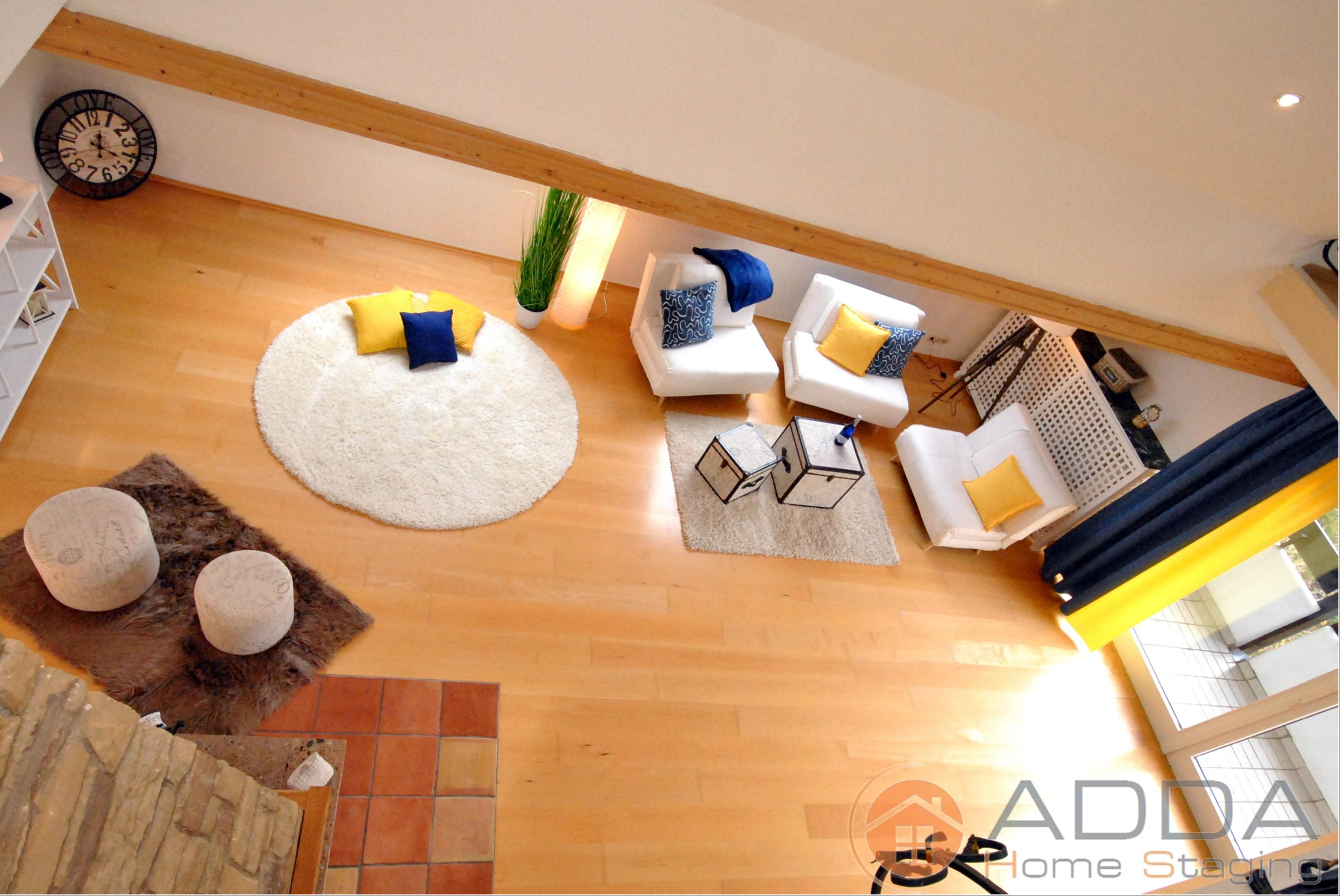 Wohnraum nach Home Staging #kissen ©ADDA Home Staging