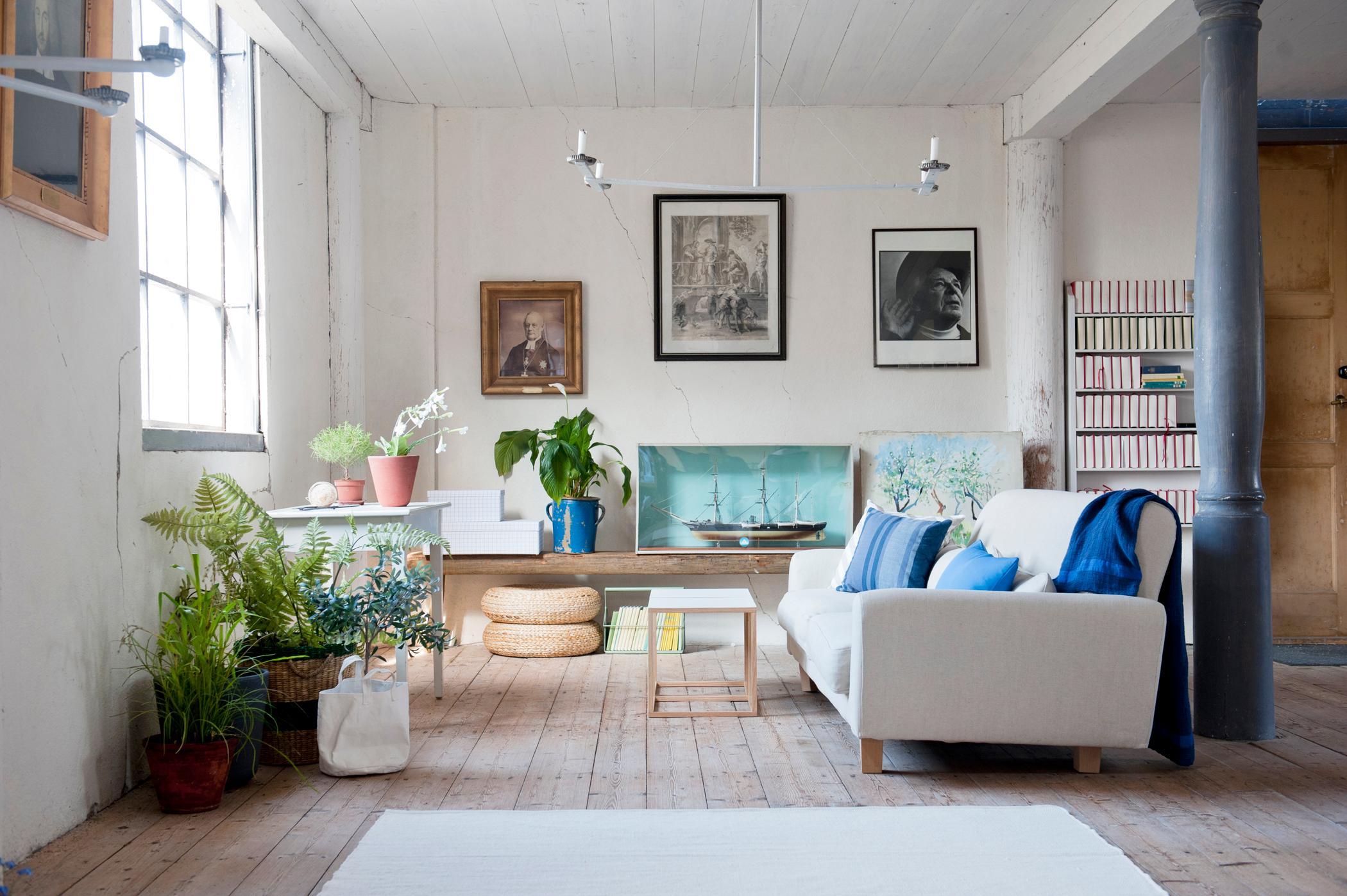 Wohnräume Gestalten säule bilder ideen couchstyle