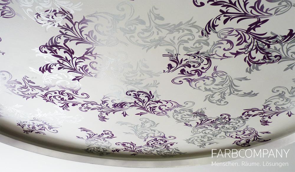 Wohntrend Violett? Einblicke In Ein Realisiertes Wohnraumkonzept. # Deckengestaltung #wandtattoo #raumgestaltung ©