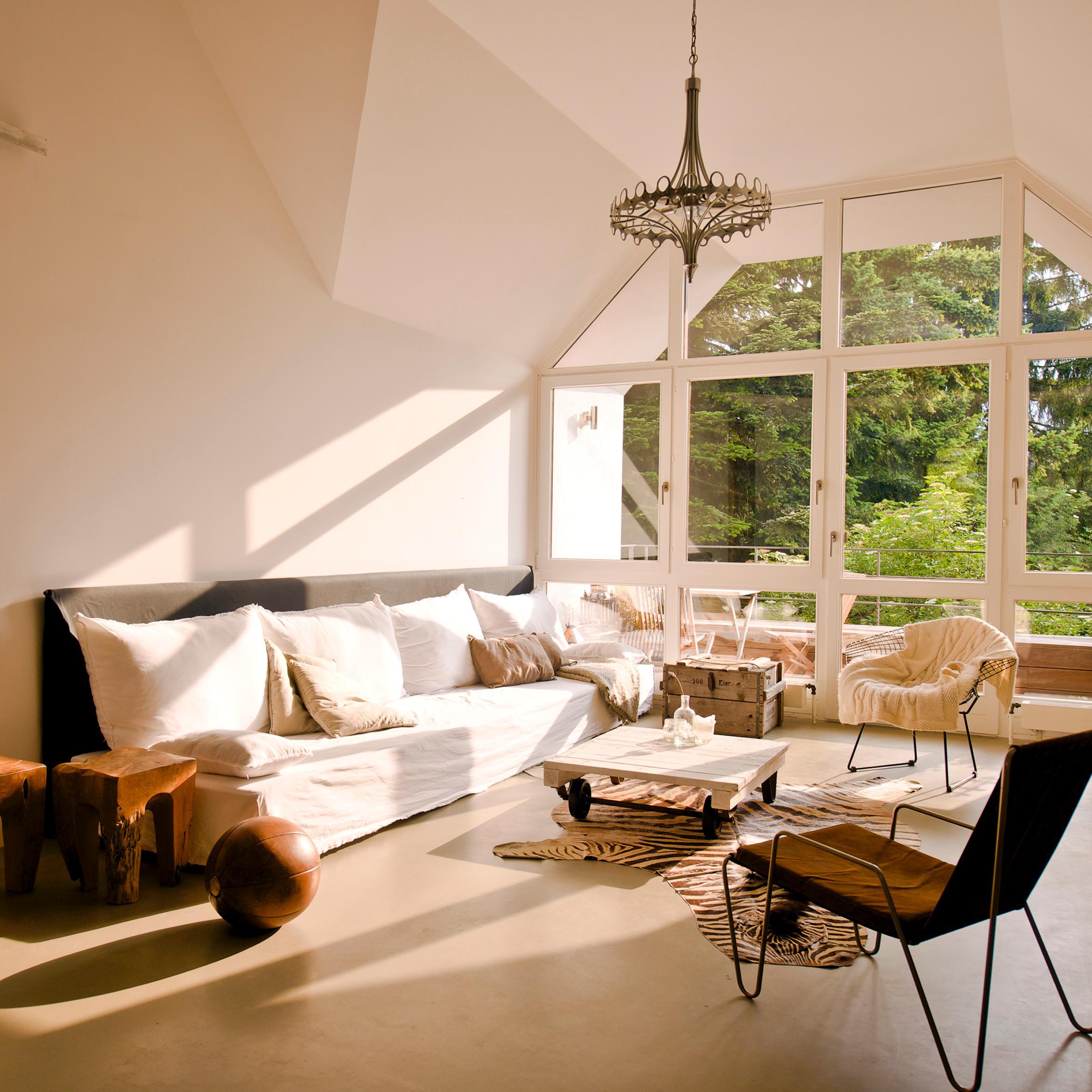 Wohnzimmer Couchtisch Betonboden Wohnzimmer Sofa