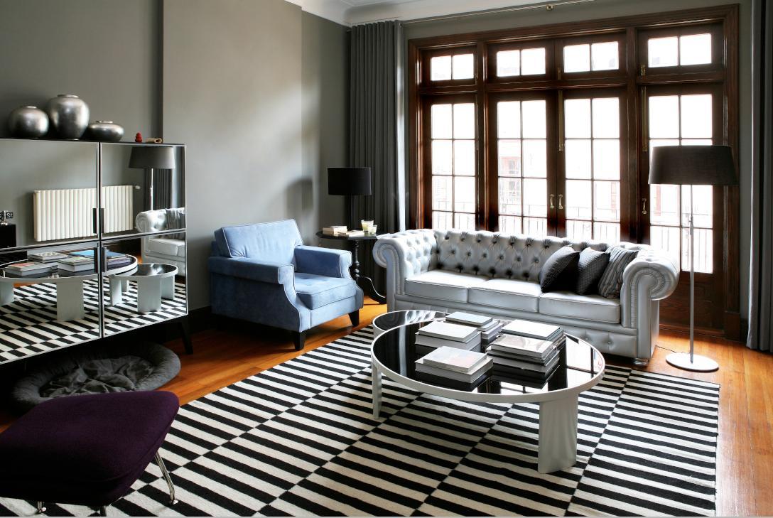 Wohnzimmer #couchtisch #eklektisch #sessel #stehlampe #stilmix #sofa # Grauessofa #