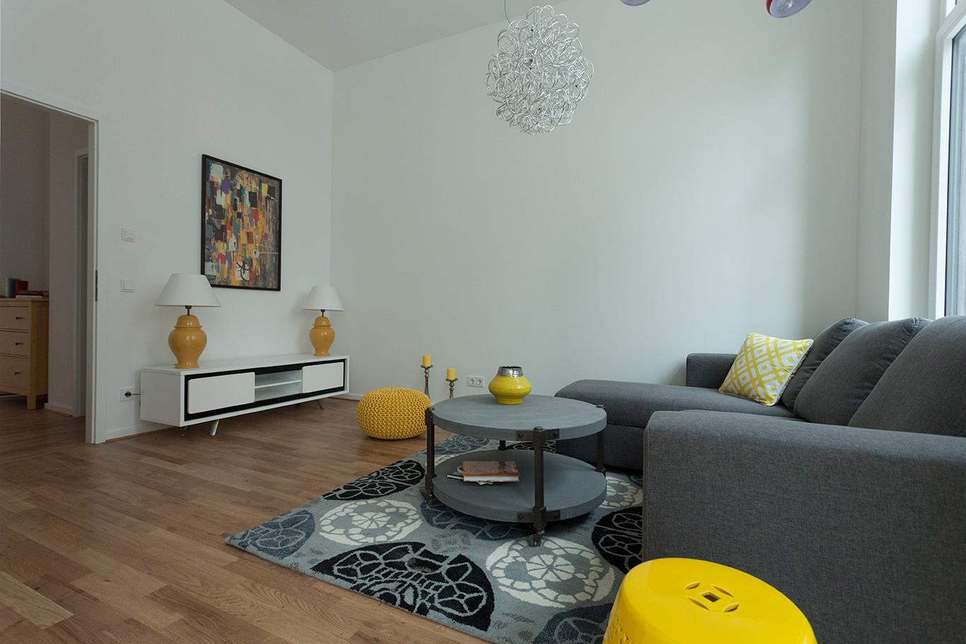 Wohnzimmer Blau Gelb: Wohnzimmer farbkombination in gelb bamboo ...