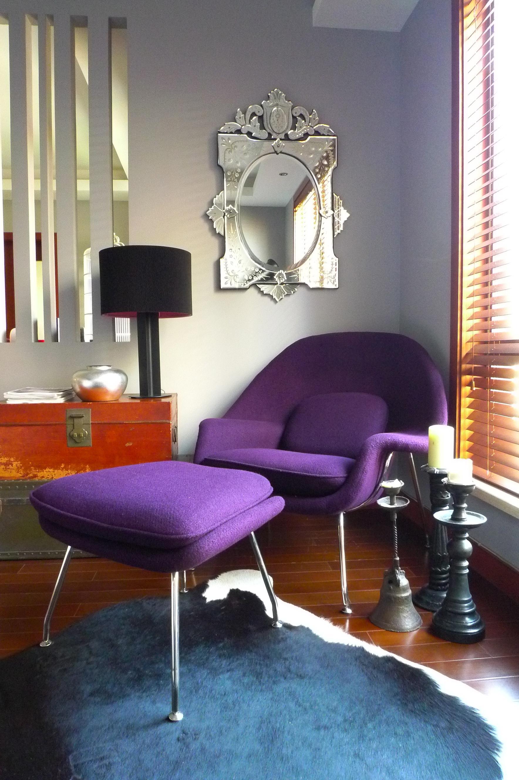 Wohnzimmer #hocker #spiegel #sessel #kerzenständer #... • COUCHstyle