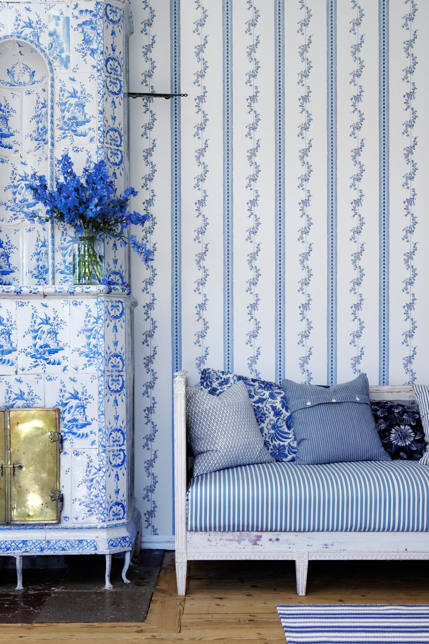 Wohnzimmergestaltung Mustertapete • Bilder & Ideen •