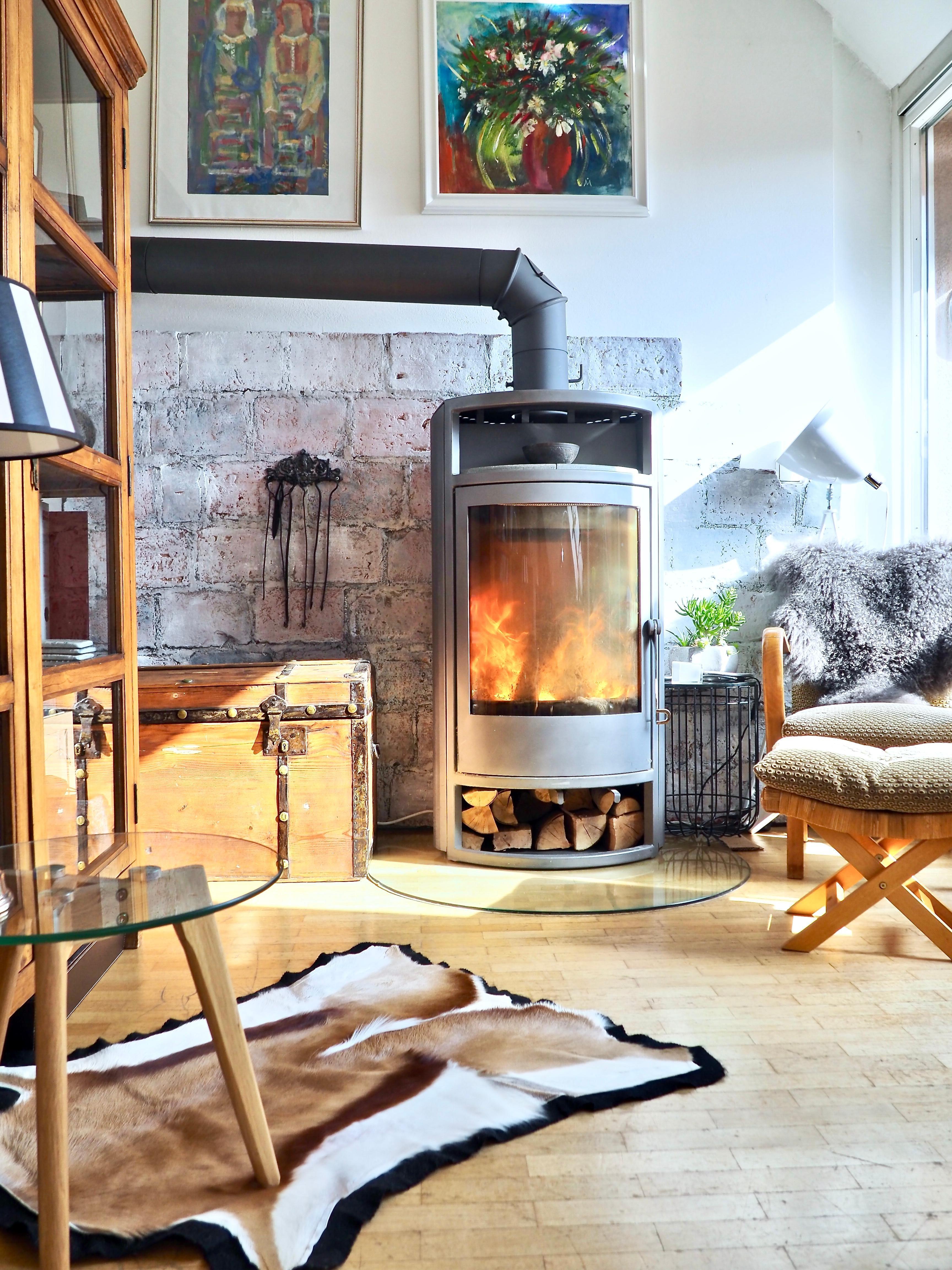 Wohnzimmer #Kamin #Feuer #Winter