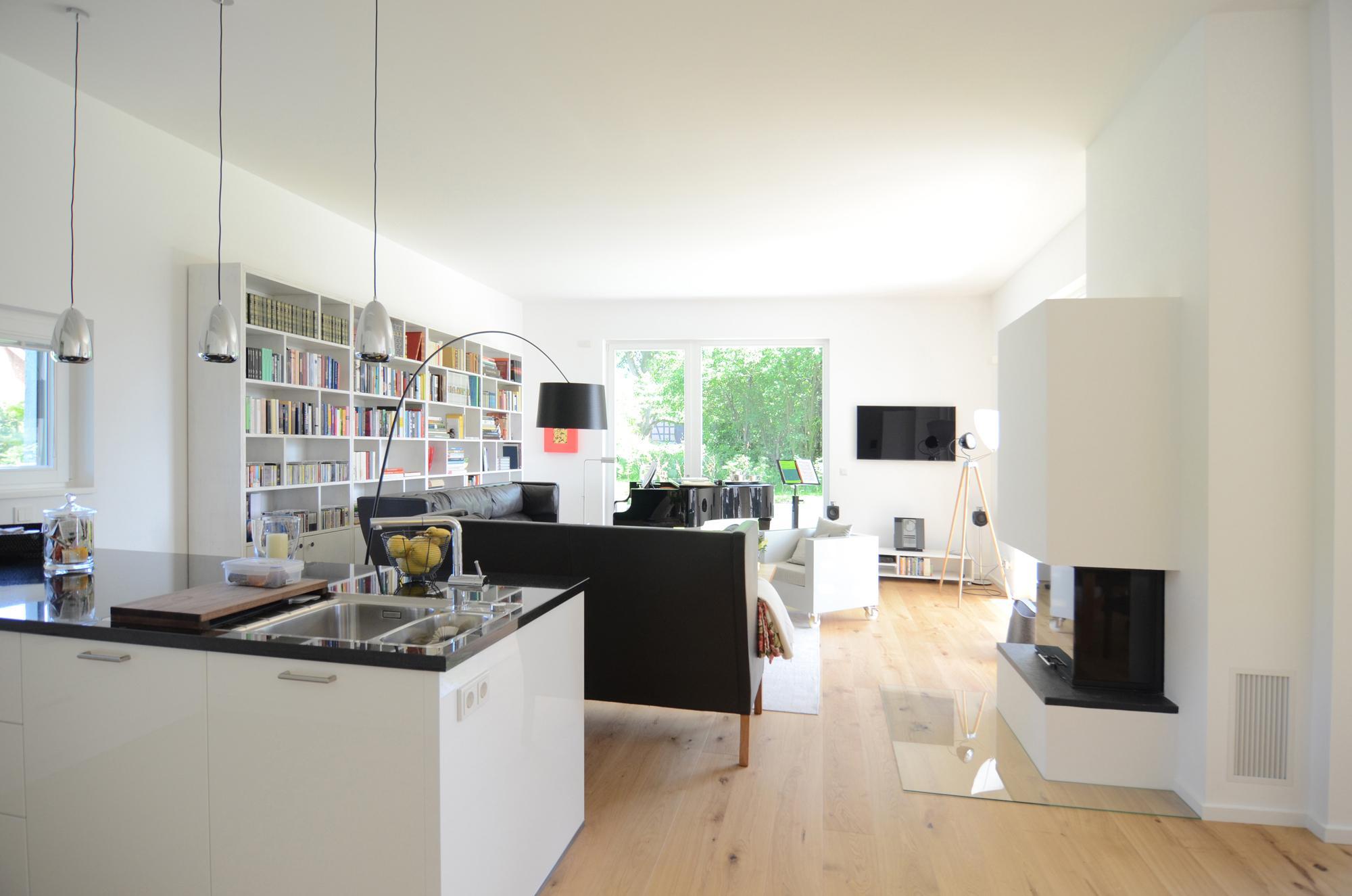 Exceptional Wohnzimmer Mit Küche Und Kamin #küche #wohnzimmer ©Frank Püffel