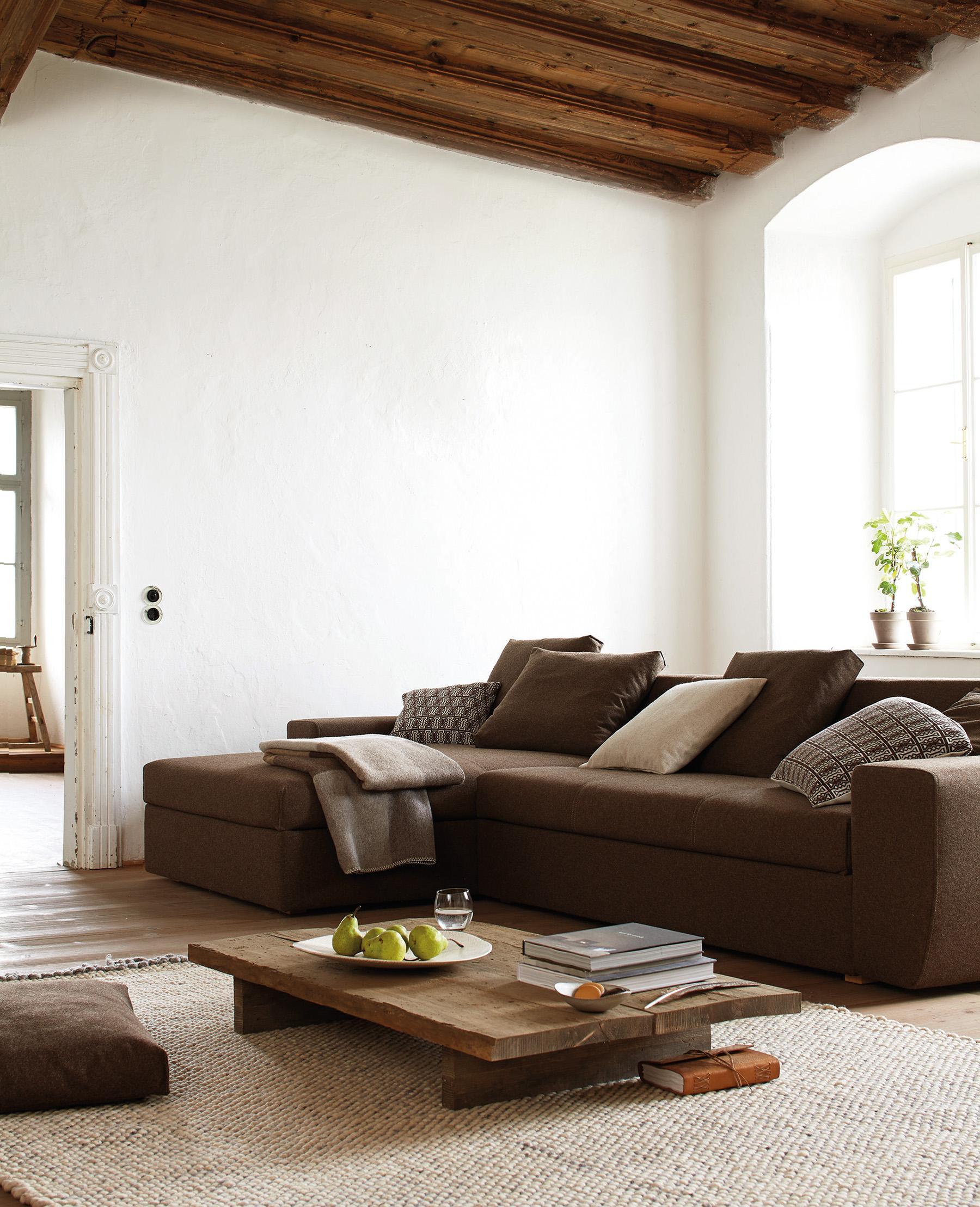 Wohnzimmer mit brauner couch  Braunes Sofa • Bilder & Ideen • COUCHstyle