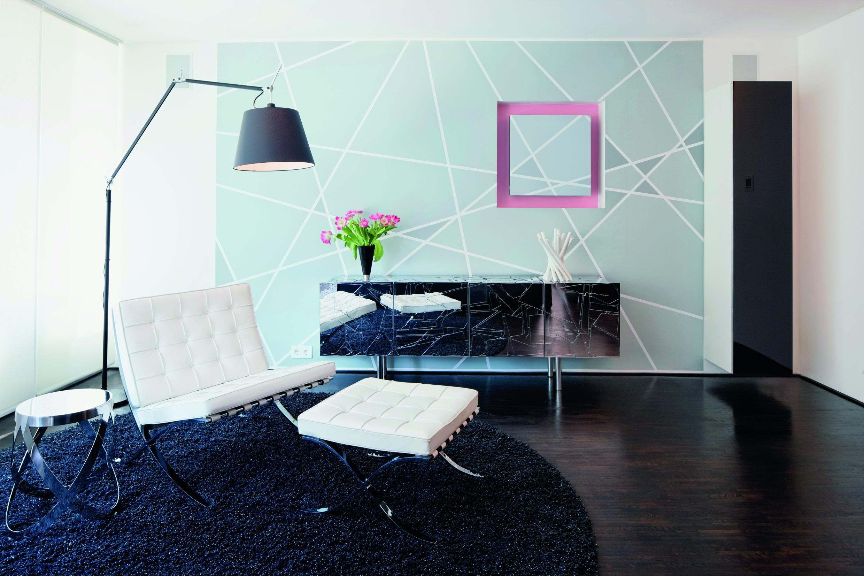 türkisfarbene tapete • bilder & ideen • couchstyle, Wohnzimmer