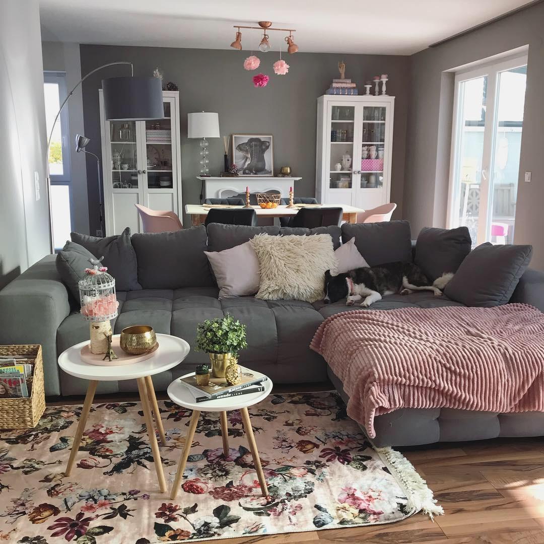 wohnzimmer #skandi #rose #floral #zuhause #kuscheli...