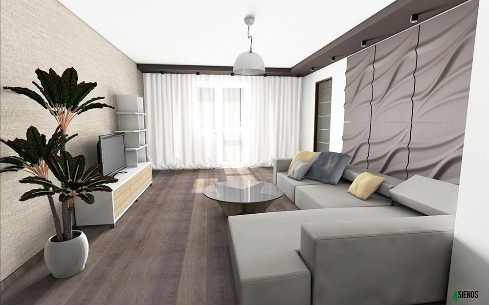 wohnzimmer #wandgestaltung #beige #braun #3dpanels ...
