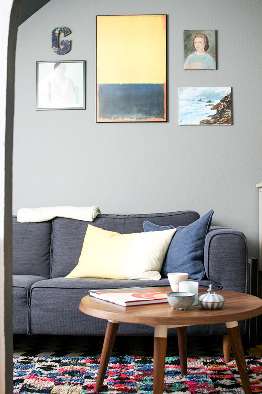 Wohnzimmerecke couchtisch wandfarbe vintage sofa - Vintage wandfarbe ...