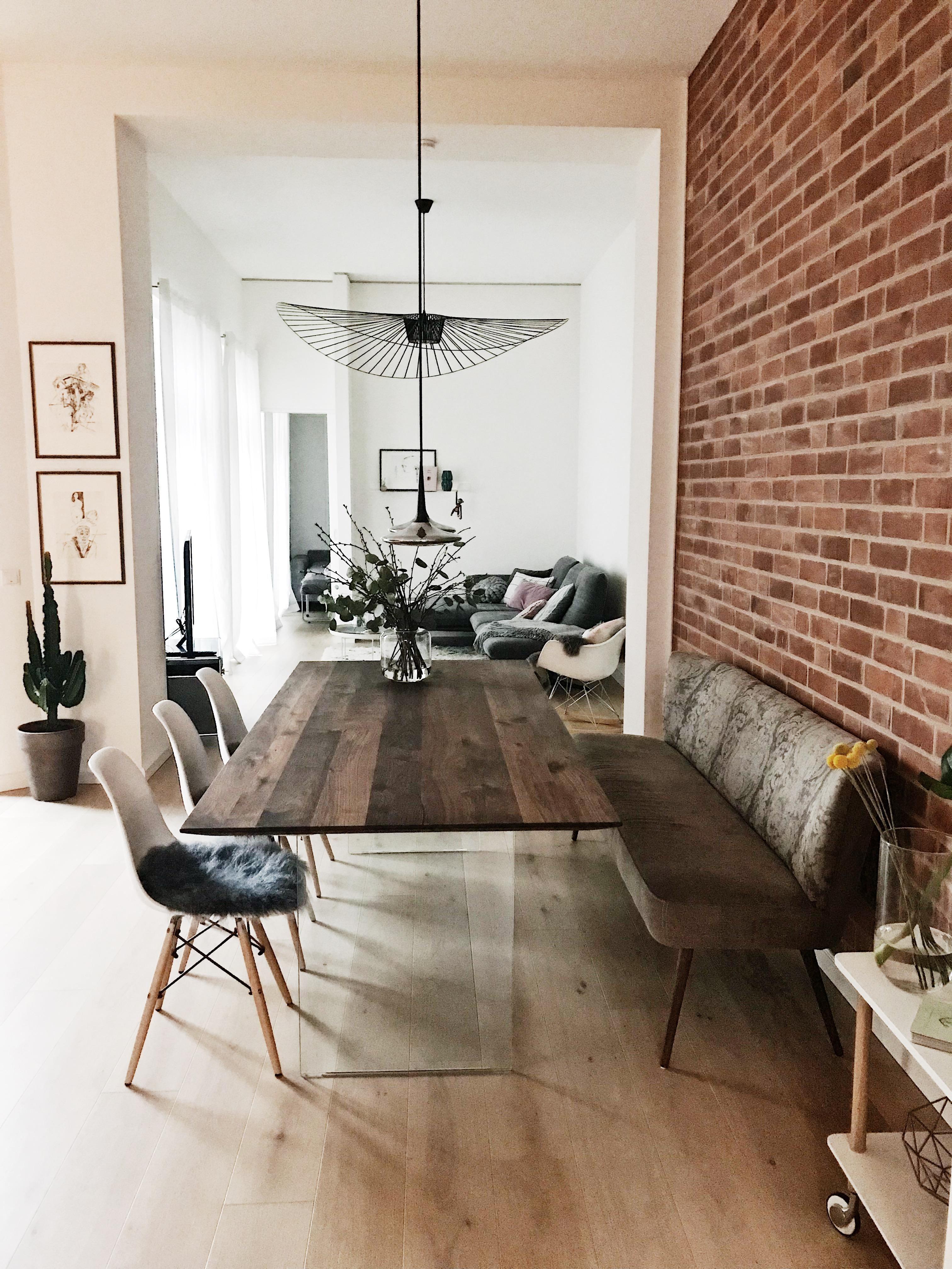 #wohnzimmer#esszimmer#tobiasgrau#steinwand#loft#hygge#whiteliving