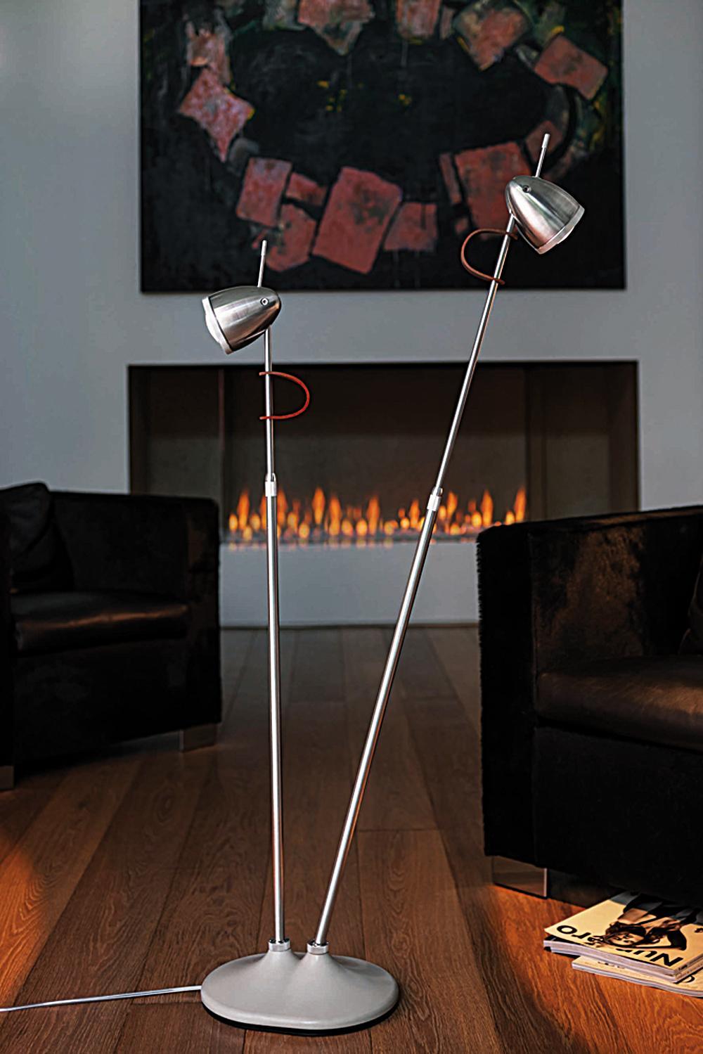 ylux zweikpfige standleuchte wohnzimmer beleuchtung lessnmore nicole - Beleuchtung Wohnzimmer Lux
