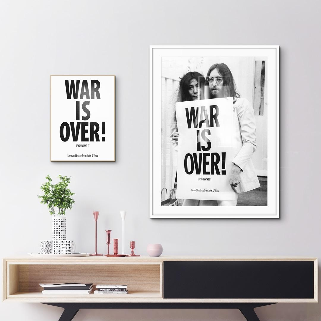 """Yoko & John - War is over!"" & ""War is over!"" 🕊 als gerahmtes Alubild & Poster