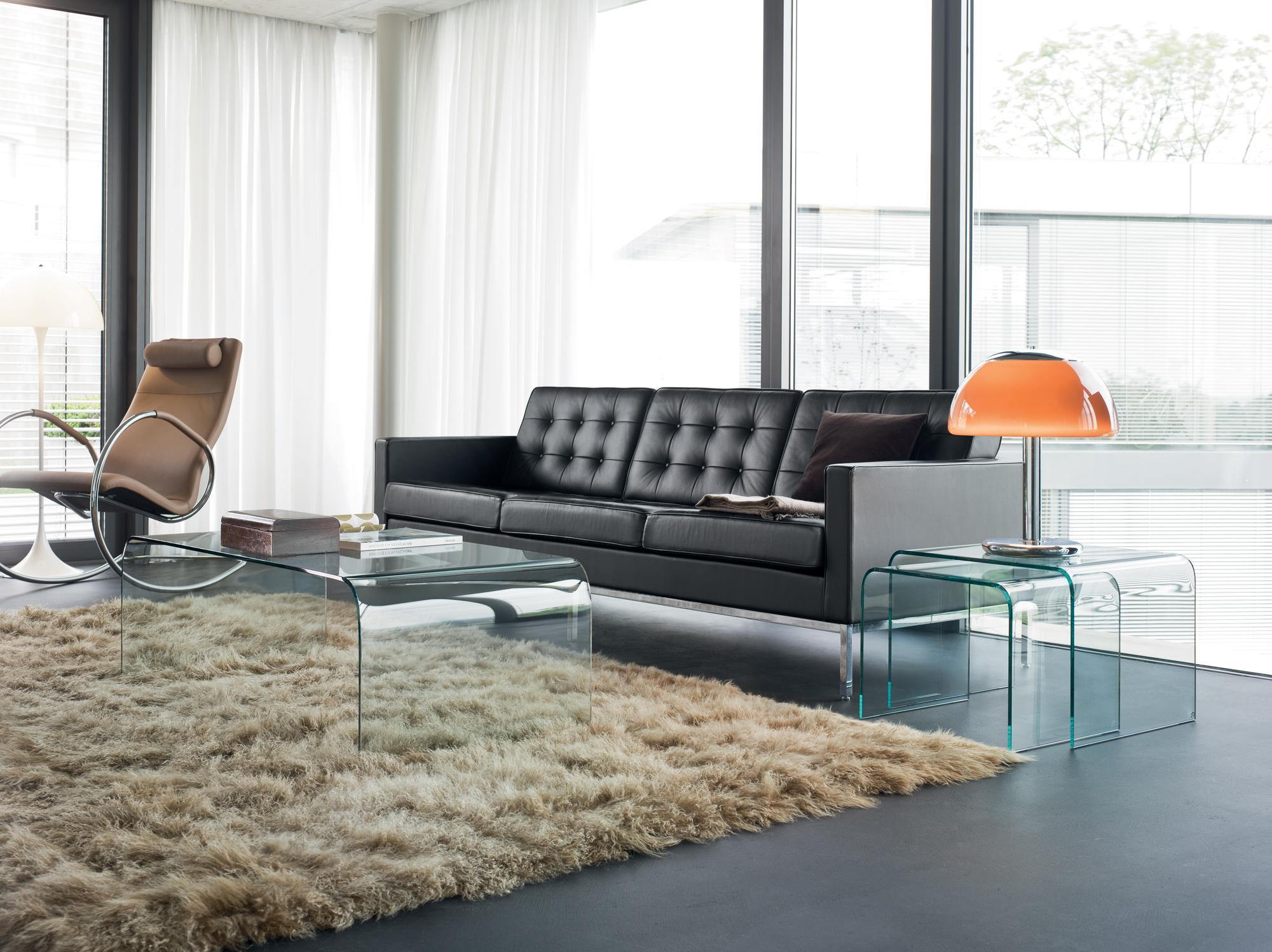 schwarzes ledersofa ? bilder & ideen ? couchstyle - Wohnzimmer Ideen Schwarzes Sofa