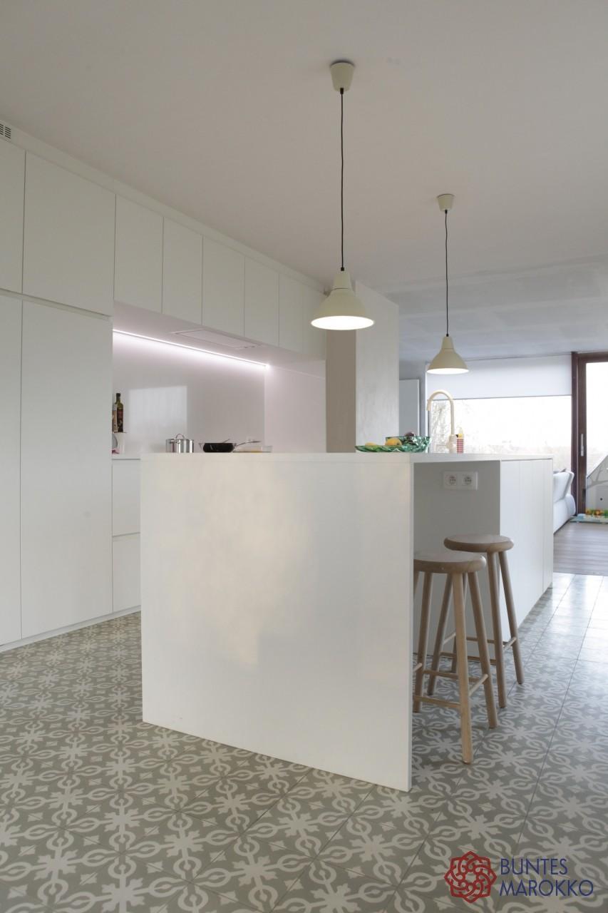 zementfliesen in der küche #bodenfliesen #küchenflie
