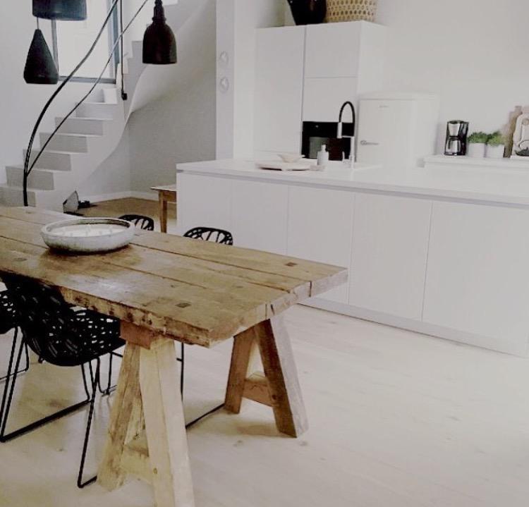 Tisch Esszimmer | Zu Tisch Esszimmer Kuche Kitchen Weiss Holztisch